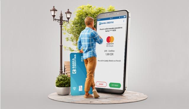Bezpečné platby přes aplikace CREDITA Autentizace